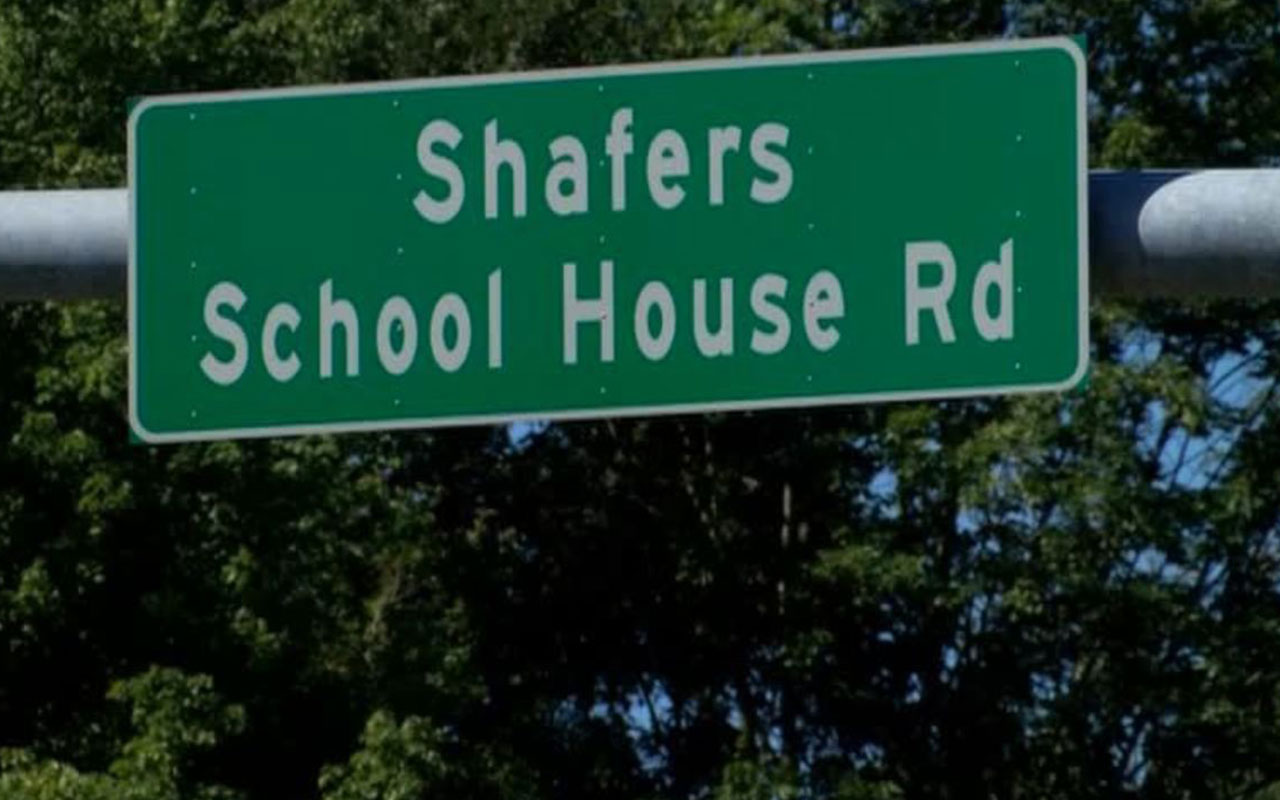 Shafer Road sign